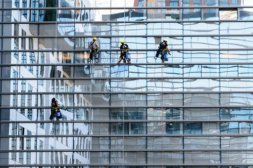 mycie okien alpinistyczne kraków